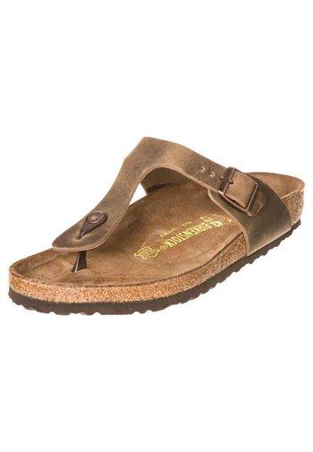 GIZEH - T-bar sandals - tabakbraun