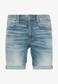 G-Star - 3301 SLIM - Denim shorts - blue denim - 0