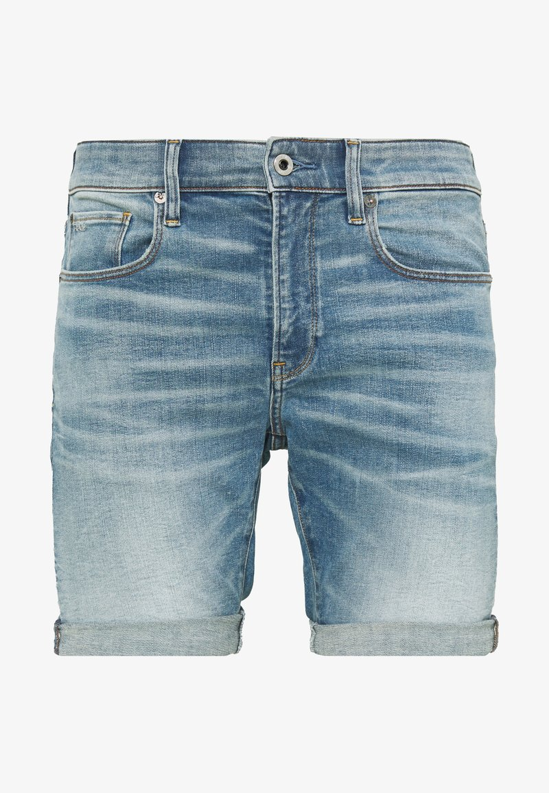 G-Star - 3301 SLIM - Denim shorts - blue denim