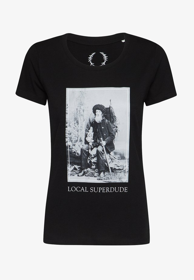 ARTWOOD LOCAL SUPERDUDE  - Print T-shirt - schwarz
