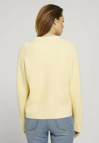 TOM TAILOR DENIM - Cardigan - soft yellow - 2