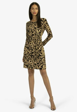 Cocktail dress / Party dress - schwarz-beige