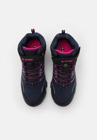 Hi-Tec - BLACKOUT MID WP UNISEX - Hiking shoes - navy/magenta - 3