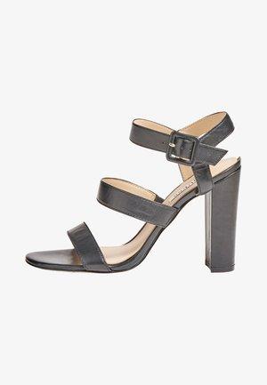 MELODIE ECHTLEDER - High heeled sandals - schwarz