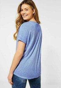 Cecil - Basic T-shirt - blau - 2