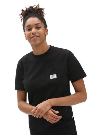 WM CLASSIC PATCH POCKET - Basic T-shirt - black