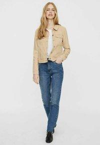 Vero Moda - Denim jacket - beige, mottled beige - 1