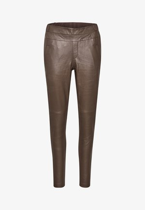 GIA SOFIE - Leather trousers - shopping bag