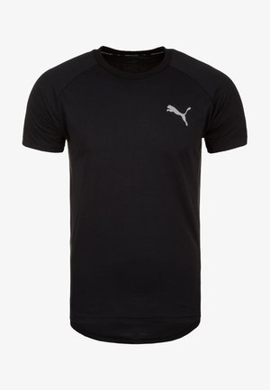 EVOSTRIPE  - Basic T-shirt - black