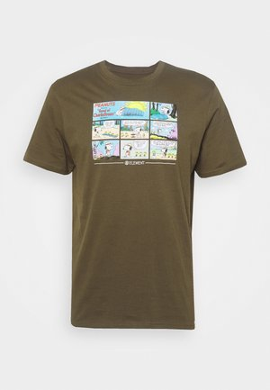 PEANUTS CAMPER - T-shirt con stampa - army