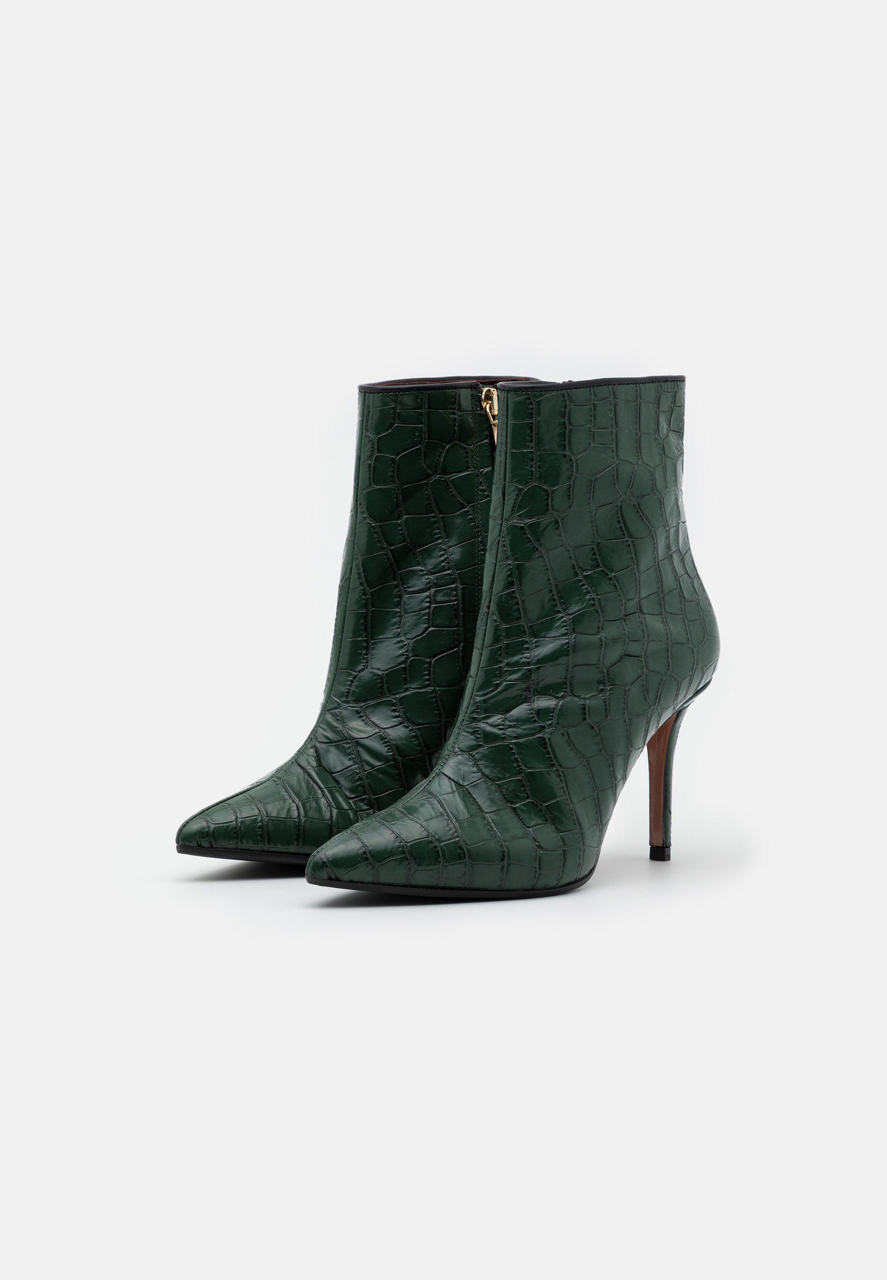 Oxitaly LUISA High Heel Stiefelette green/grün
