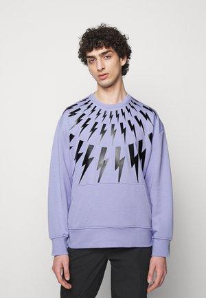 FAIR ISLE THUNDERBOLT - Sweatshirt - lilac/black