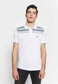 Lacoste - PH5101-00 - Polo shirt - white/navy blue/niagara blue - 0