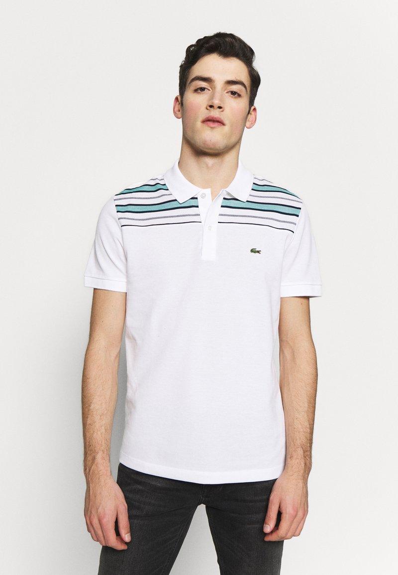 Lacoste - PH5101-00 - Polo shirt - white/navy blue/niagara blue