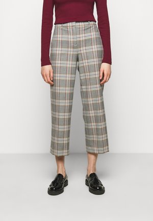 PEYTON PANT IN PLAID - Trousers - bronzed ochre/rust
