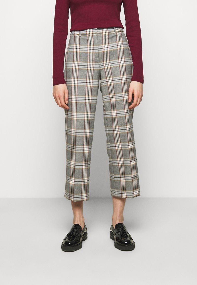 J.CREW - PEYTON PANT IN PLAID - Trousers - bronzed ochre/rust