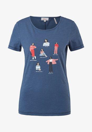 Print T-shirt - blue placed print