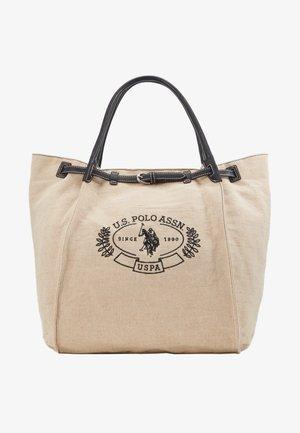 ELMORE - Tote bag - natural/black