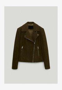 Massimo Dutti - Leather jacket - green - 2