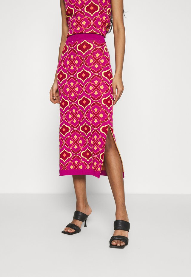 JASMINE MIDI SKIRT - Kynähame - orange