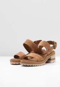 Timberland - VIOLET MARS 2 BAND SANDAL - Sandals - rust - 7