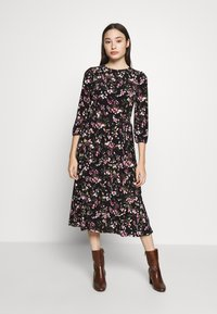 Lauren Ralph Lauren Petite - FELIA SLEEVE DAY DRESS - Sukienka z dżerseju - black/multi - 2