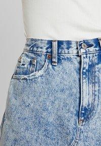Abercrombie & Fitch - MINI SKIRT - A-line skirt - blue - 5