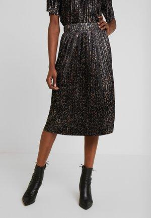 DRGALAYA - Pleated skirt - black mix