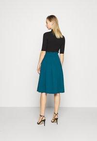 WAL G. - EMERSON MIDI SKIRT - A-line skirt - dark teal blue - 2