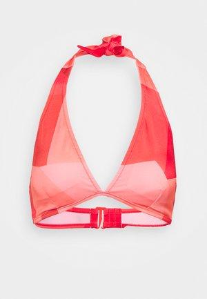 WOMEN SHORE KIRITIMATI TRIAN - Bikini top - red light combination