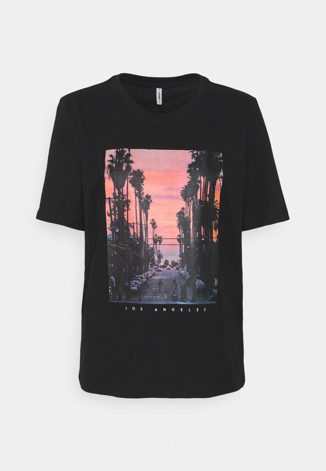 ONLIRIS LIFE BOXY CITY - Printtipaita - black