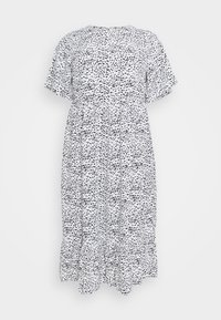 TIERED DRESS WITH SLEEVES - Day dress - white