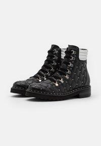 Melvin & Hamilton - BONNIE  - Lace-up ankle boots - black/silver - 2