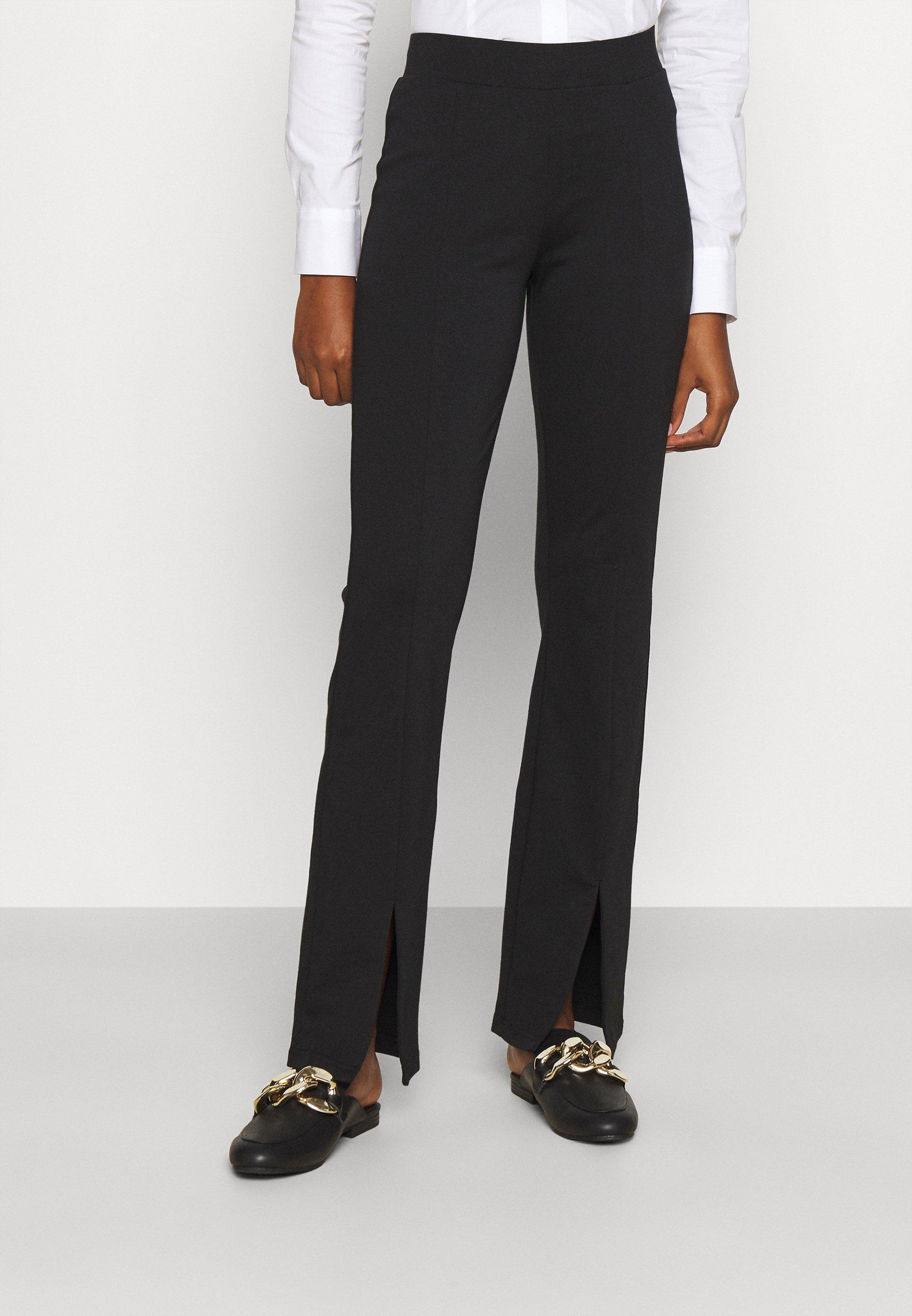 Women ONLCIANA LIFE FLARED SLIT PANT  - Trousers