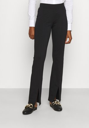 ONLCIANA LIFE FLARED SLIT PANT  - Kalhoty - black