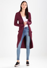 Vila - VIRIL LONG CARDIGAN  - Cardigan - fig/melange - 1
