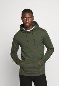 Newport Bay Sailing Club - CORE HOOD - Sweat à capuche - khaki - 0