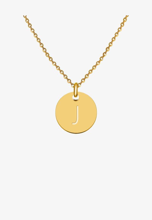 BUCHSTABE J - Collana - gold