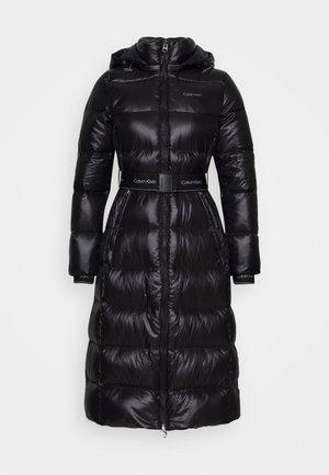 LOFTY  BELTED MAXI COAT - Down coat - black