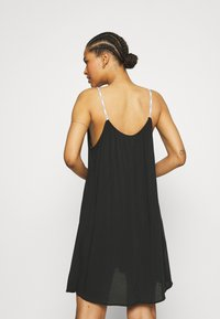 Calvin Klein Swimwear - LOGO TIES DRESS - Nightie - black - 2