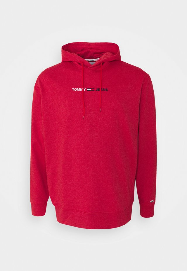 STRAIGHT LOGO HOODIE - Sweatshirt - deep crimson heather