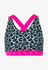 Pink Soda - DECO BRA - Sportovní podprsenka - black/white/pink - 4
