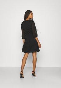 JDY - JDYEMILIA WRAP DRESS - Day dress - black - 2