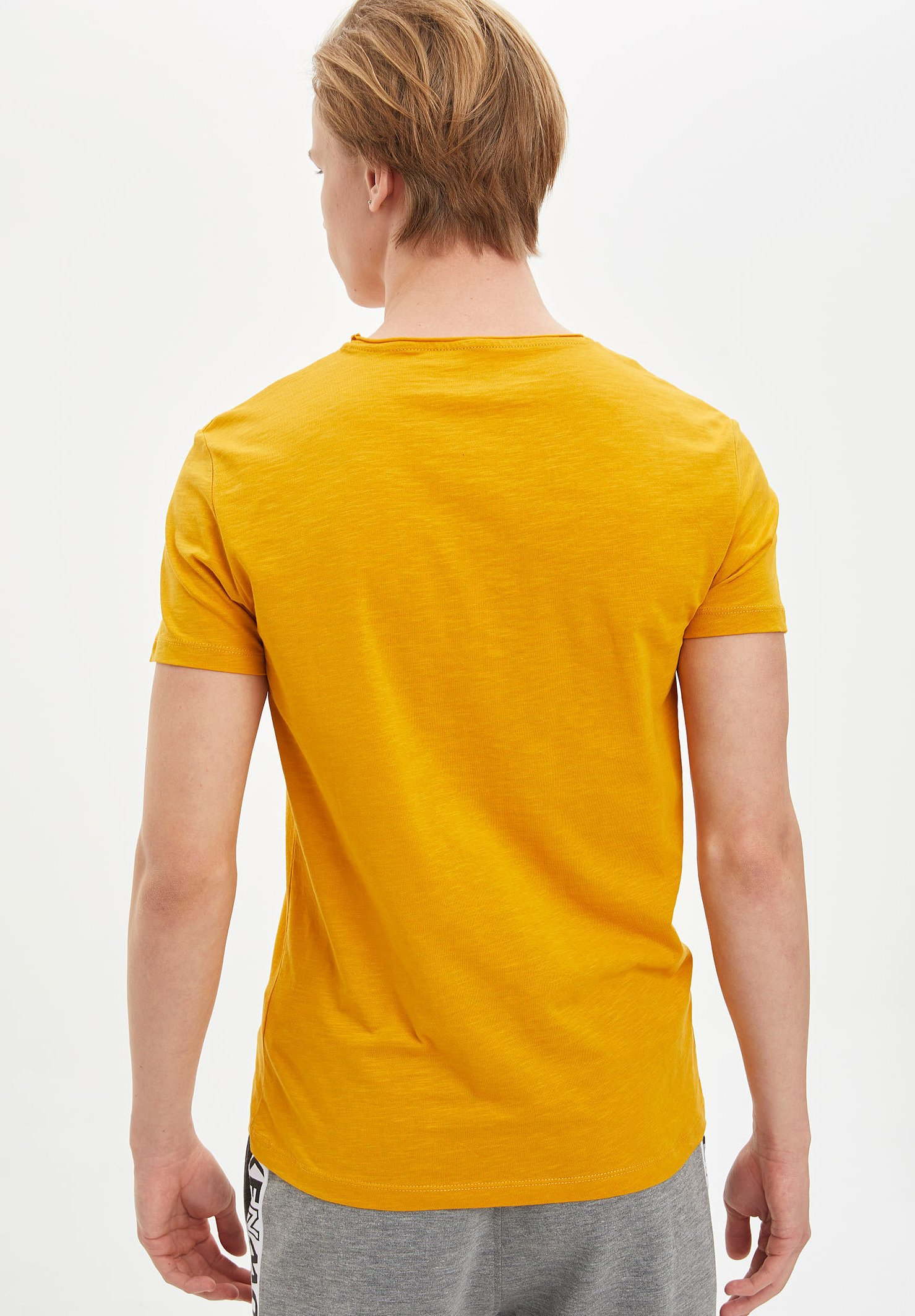 DeFacto Basic T-shirt - yellow 7Y6dx