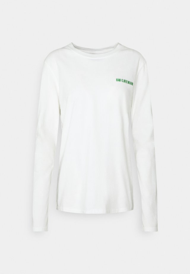 CASUAL LONG SLEEVE TEE - Topper langermet - offwhite