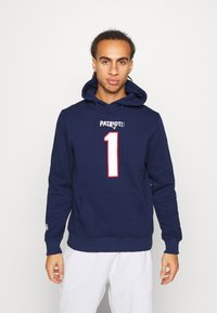Fanatics - NFL CAM NEWTON NEW ENGLAND PATRIOTS ICONIC NAME NUMBER GRAPHIC - Hoodie - navy - 0