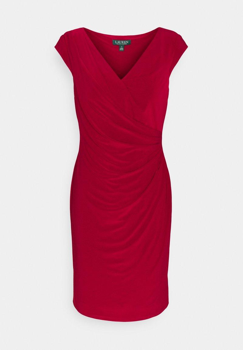 Lauren Ralph Lauren - MID WEIGHT DRESS - Etuikjole - vibrant garnet