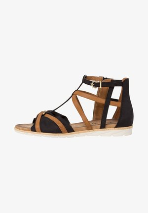 Wedge sandals - black nut