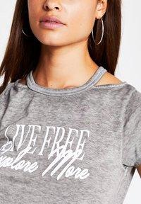 River Island - Print T-shirt - grey - 3