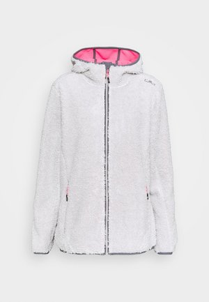 WOMAN JACKET FIX HOOD - Fleece jacket - gesso